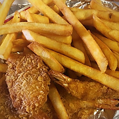 7 Pieces of Jumbo Shrimp with Fries