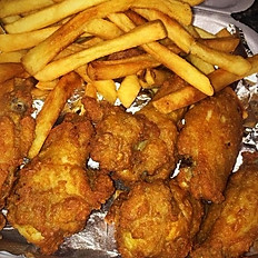 10 Pieces of Wingettes (includes Fries)