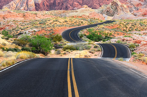 A road runs through it in the Valley of