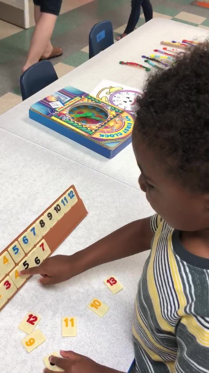 Number recognition and the order of numbers