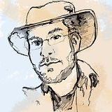 chad hoberer owner profile portrait drawing