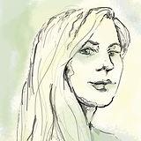 chelsea brock hoberer artist profile image portait drawing