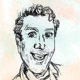 Paul warmus designer profile picture drawing