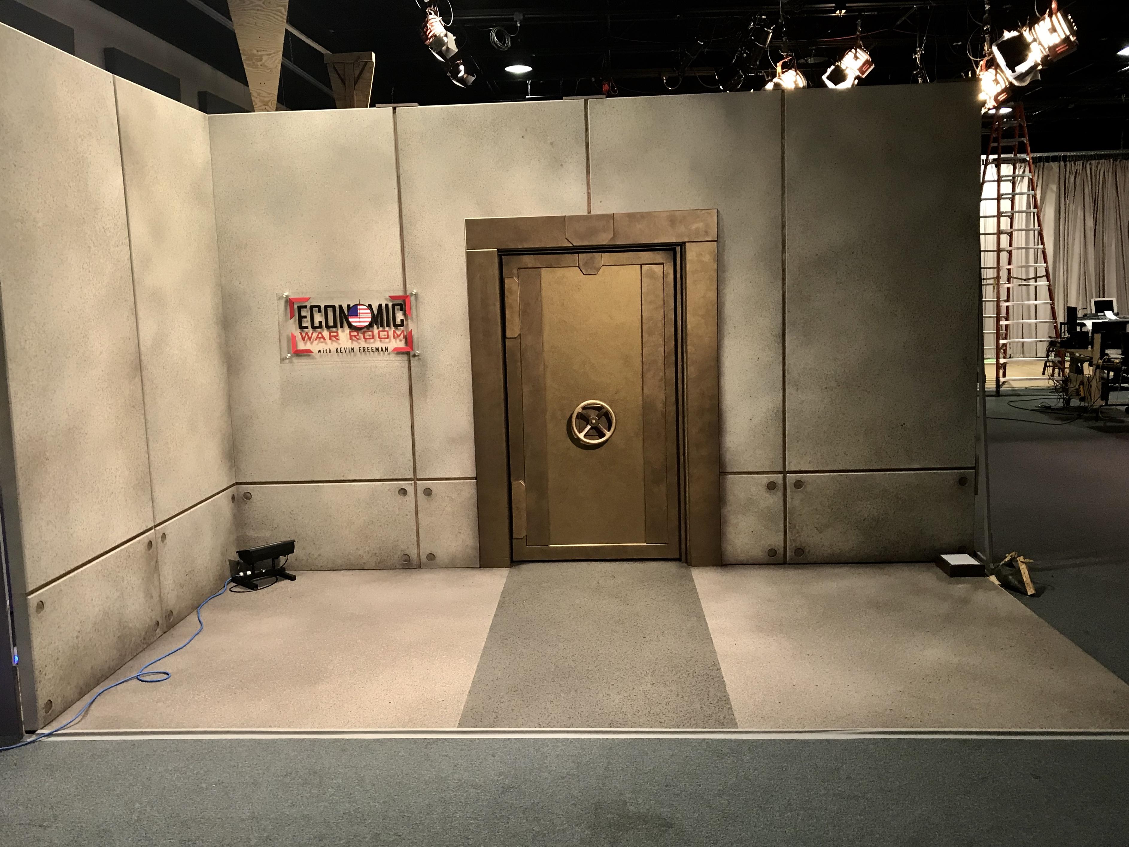 Economic War Room Vault Door.
