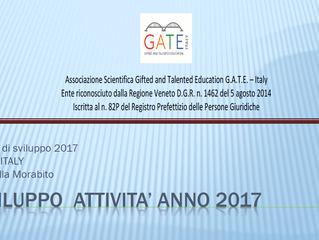 Sviluppo attività Gate-Italy 2017