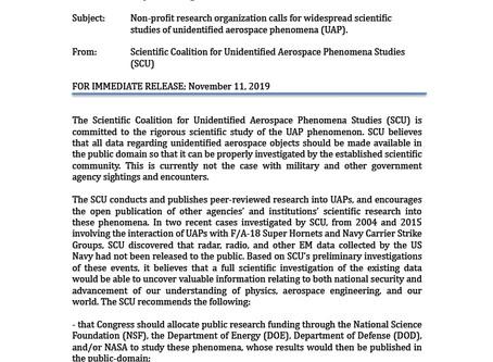Non-profit research organization calls for widespread scientific studies of UAPs