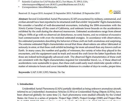 Estimating Flight Characteristics of Anomalous Unidentified Aerial Vehicles