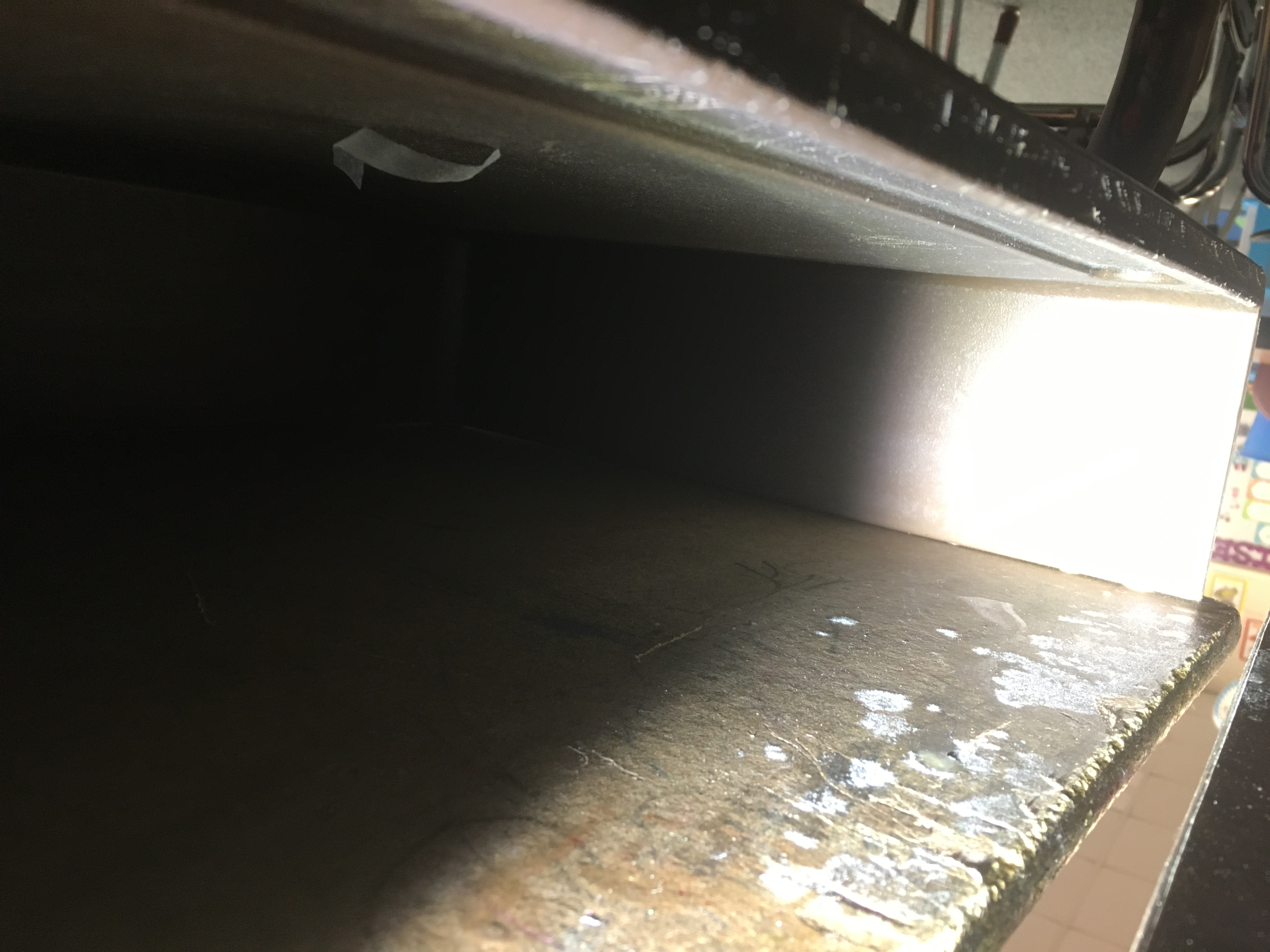 Mold Growth inside School desk