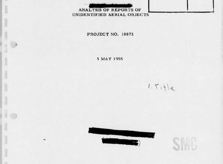 Special Report No. 14: Analysis of Reports of Unidentified Aerial Objects; Project No. 100073