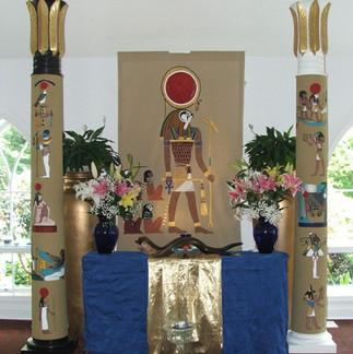 Horus ritual altar