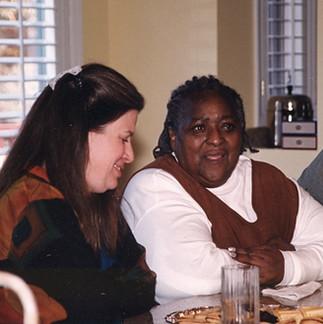 Aeptha talks with her teacher, Shakmah Winddrum