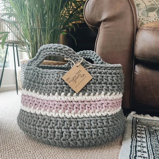Chunky Stripe Basket