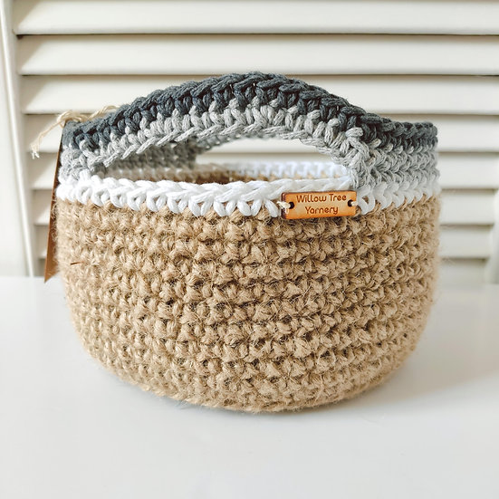 Jute & Recycled Cotton Basket