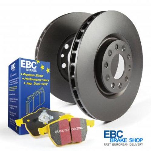 Abarth 500 EBC Yellowstuff Rear Pad and Plain Disc Kit