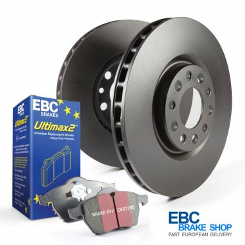 Abarth 500 EBC Ultimax Rear Pad and Replacement Disc Kit