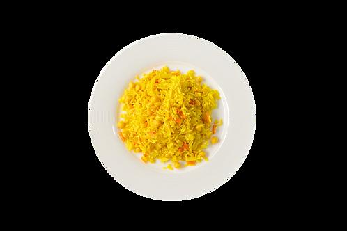 אורז צהוב עשיר עם גזר וגרגירי חומוס