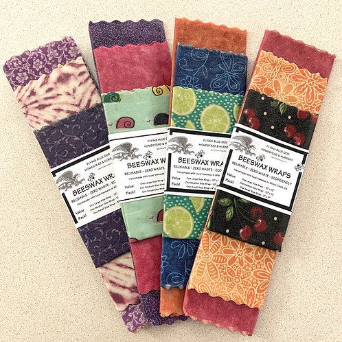 """Beeswax Wrap  3-Pack (9"""", 10"""" and 12"""")"""