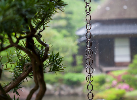 Using Rain Chains in the Garden as Downspouts