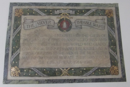 Silver Thimble Plaque, Dreadnought Building, University of Greenwich