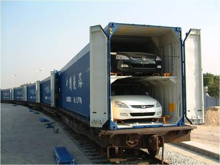 Провоз автомобиля на поезде