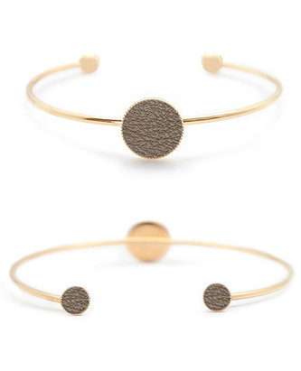 Bracelet Dots Game cuir taupe