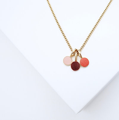Collier Dots Game Cuir