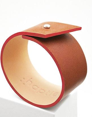 Bracelets en cuir Panache tranche rouge