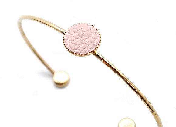 Bracelet Dots Game cuir rose