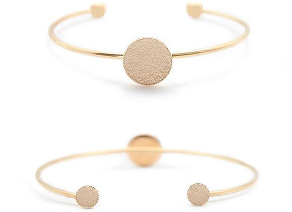 Bracelet Dots Game cuir doré