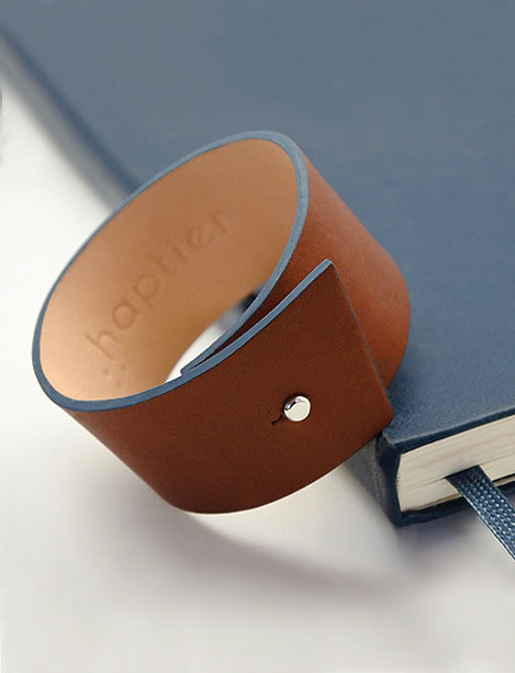 haptier bracelet cuir panache moleskine