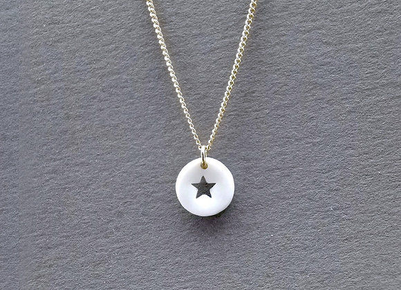 pendentif en porcelaine médaille étoile haptier
