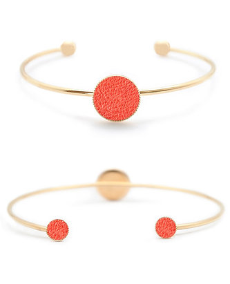 Bracelet Dots Game cuir coloris corail