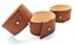 bracelet haptier panache cuir naturel