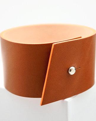 Bracelet en cuir Panache tranche orange