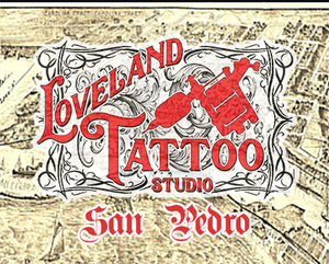 San Pedro Tattoo Shop Loveland Tattoo Studio vintage tattoo graphic