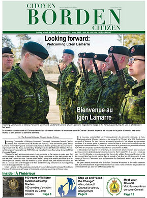 CFB Borden Citizen Newspaper