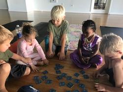 kids yoga memory game