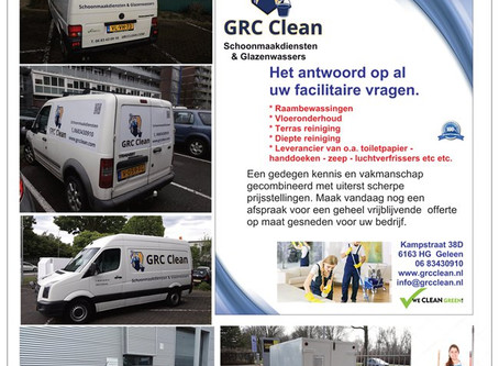 GRC Clean Schoonmaakdiensten & Glazenwassers,  meer dan alleen schoonmaak!