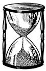 hourglass BW
