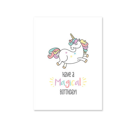 Magical Unicorn: Birthday: Set of 3