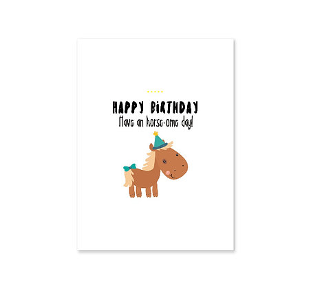 Horse-ome Birthday: Set of 3