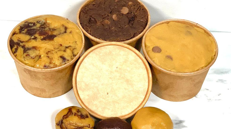 Triple Cookie Dough Pots