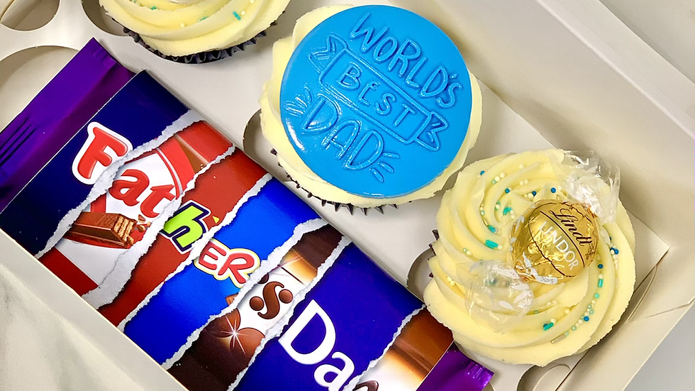 Father's Day 3 cupcakes & bar