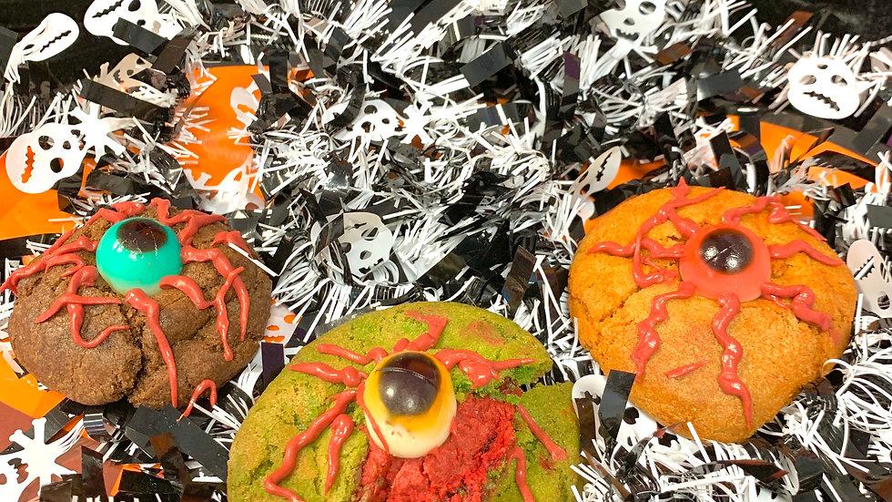 Eyeball cookies x 6