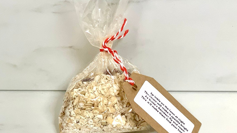 Magic reindeer food. (Animal safe in compostable bag)