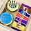 Thumbnail: Box of 2 Father's Day football cupcakes & bar