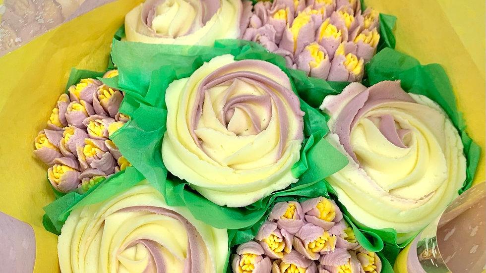 Dual Flower Bouquet (7 Cupcake)