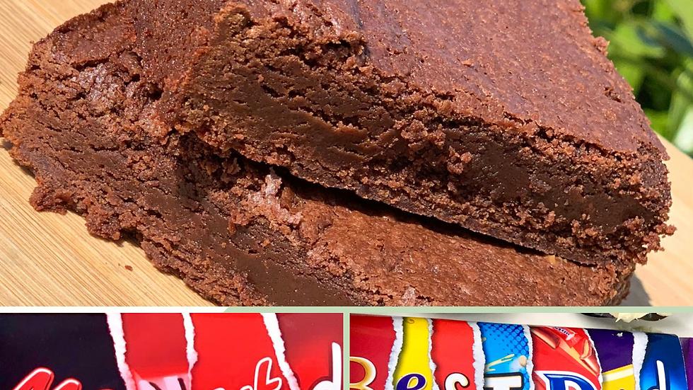Box of 4 chocolate brownies & personalised bar