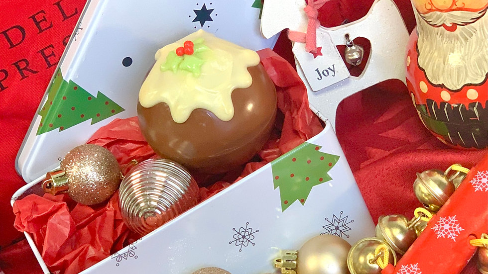 Christmas pudding  hot chocolate bombs