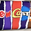 Thumbnail: Box of 4 chocolate brownies & personalised bar